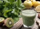 Zelené smoothie zo žihľavy