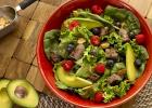 šalát, steak, obed, večera, mňam, fit. fitness, chudnutie, zdravá strava, zdravie, diéta, varíme, bez varenia