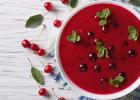 polievka, čerešňová, leto, jedlo, tradičné, studená kuchyňa, mňam, fit, recept, čerešne,