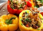 paprika, plnená, quinoa, mňam, dobrú chuť, leto, fit, zdravie, zdravá strava, recept, vegetarian, bez lepku, zdravé jedlo, obed, večera