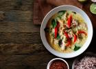 polievka, chutná, zdravá, fit, zdravie, recept, domáca, thajská, kuracia,
