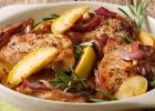 mäso, kuracie, kura, jablko, rozmarín, recept, fit, fitastyl.sk, recepty, obed, večera, pečené kura, výživa, strava, zdravie, chudnutie, wellness, životný štýl