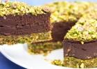Čokoládovo-pistáciová torta