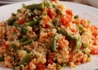 Pohánkový bulgur s fazuľovými lúskami a tofu