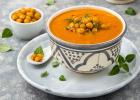 cícerová polievka s mrkvou, večera, obed, bielkoviny, zdravo, zdravá večera, zdravý obed