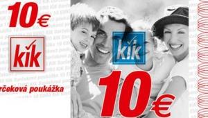 Pozor, SÚŤAŽ!!! Darčeková poukážka na nákup tovaru v predajniach KiK v hodnote 30€