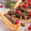 čokoládový tart, brusnice, fit, jedlo, strava, dezert, recept, zdravý, čokoláda, ako upiecť tart