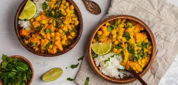 kari, vegan, cícerové kari, kokosové kari, domáce kari, vegetarian, recept, bez lepku