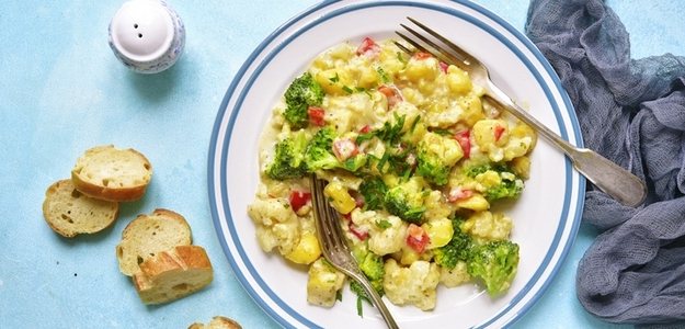 vege, vegetariánske, kari, curry, indická kuchyňa, fit, fitness, zelenina, zdravie, brokolica, karfiol, recept, čo uvariť, večera, obed, fitastyl.sk