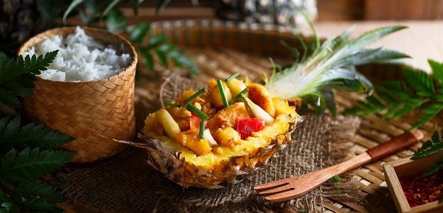 recept, ananás, kuracie prsia, mňam, mäso, večera, obed, jedlo, chudnutie, zdravá strava, fit, bielkoviny, ryža, thajské jedlo,