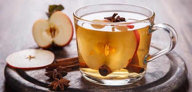 horúce jabĺčko, nápoj, zima, jablko, mňam, muškátový oriešok