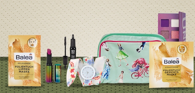sutaz, dm, kozmeticky balicek, taska, hodinky, kozmetika, zeny, sutazime