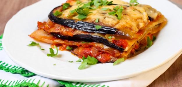 Baklažánové lasagne s mozzarellou