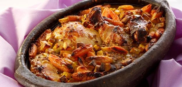 Pečený kurací hrniec so sladkými zemiakmi