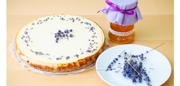 Levanduľový cheesecake s domácim levanduľovým medíkom