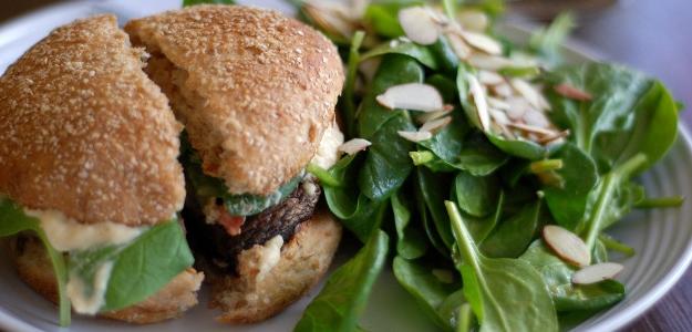 Šampiňónový hamburger