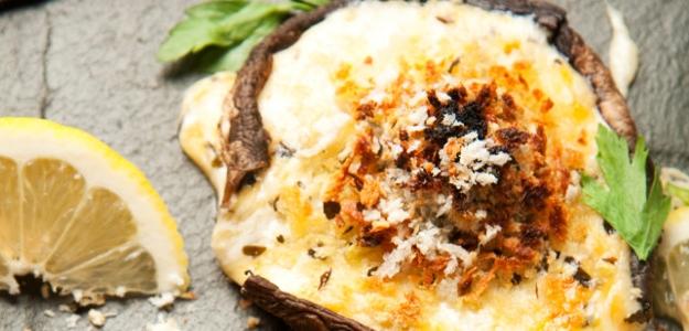 Huby Portobello plnené syrom