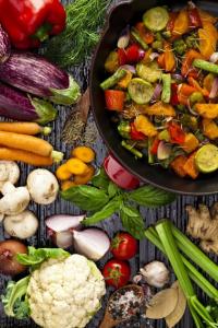 Farebná grilovaná zelenina